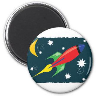 Rocket Ship Refrigerator Magnet