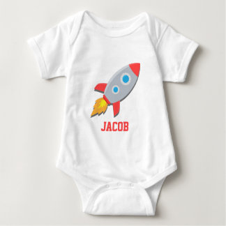 Rocket Ship, Outer Space, For Baby Boys Baby Bodysuit