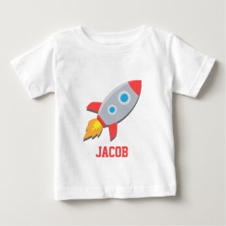 Rocket Ship, Outer Space, For Baby Boys Baby T-Shirt