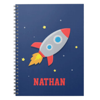 Rocket Ship, Outer Space, For Boys Notebooks
