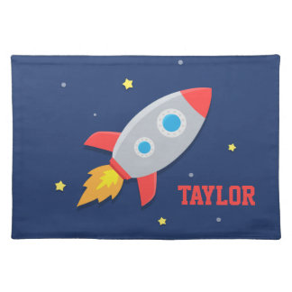 Rocket Ship, Outer Space, For Boys Placemat