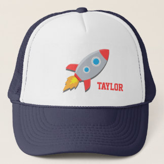 Rocket Ship, Outer Space, For Boys Trucker Hat