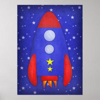 Rocket Ship Print
