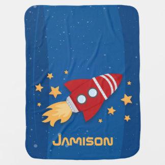 Rocket Ship Swaddle Blankets