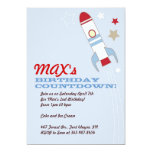 Rocket Ship Themed Birthday Invitations