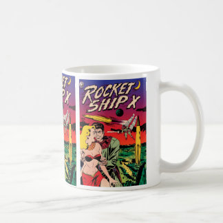 Rocket Ship X Basic White Mug