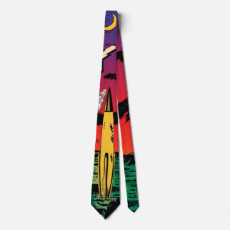 Rocket Ship X Vintage Sci Fi Comic Book Cover Tie