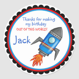 Rocket Shop Outer Space Stickers