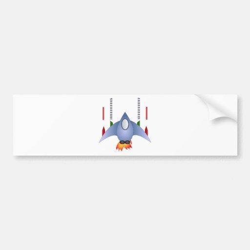 Rocket Shower Party Birthday Celebration Destiny Bumper Sticker