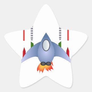 Rocket Shower Party Birthday Celebration Destiny Sticker