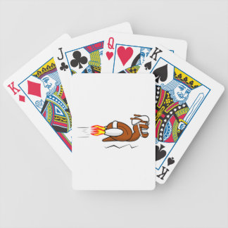 Rocket Snail Cartoon Bicycle Playing Cards