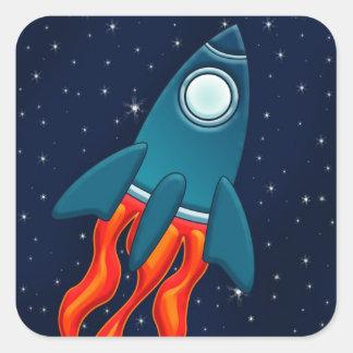 Rocket Square Sticker