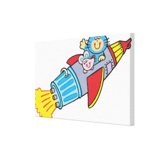Rocket Stretched Canvas Print