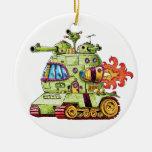 Rocket Tank Christmas Tree Ornaments