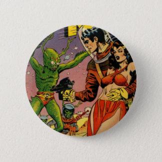 Rocket to the Moon Comic 6 Cm Round Badge