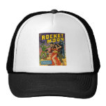 Rocket to the Moon Comic Mesh Hat