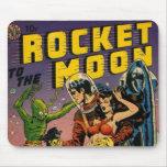 Rocket to the Moon Comic Mousepad