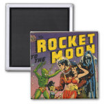 Rocket to the Moon Comic Refrigerator Magnet