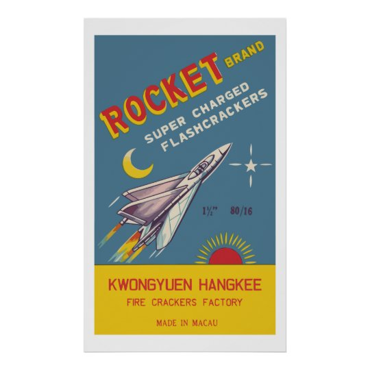 Rocket (Vintage Chinese Firecracker) Posters