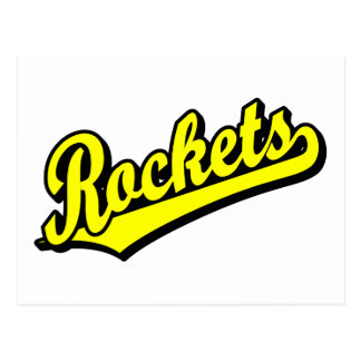Rockets in Yellow Postcard