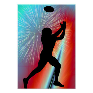 Rocket's Red Glare Football Catch Posters