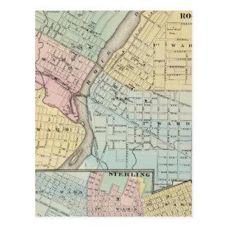 Rockford, Sterling and Rock Falls Postcard