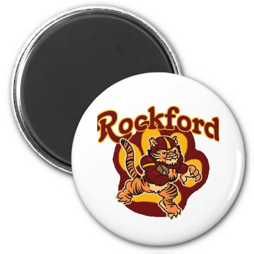 Rockford Tigers Youth Football Fridge Magnet