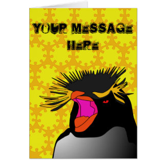 RockHopper Head Greetings Card (customisable)