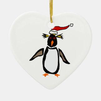 Rockhopper Penguin Christmas Art Christmas Ornament