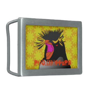 RockHopper Penguin head Belt Buckle