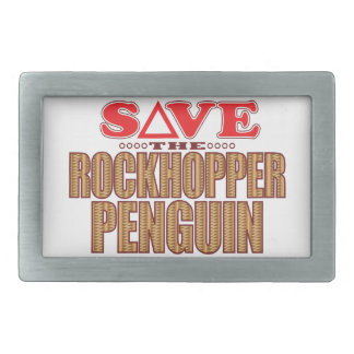 Rockhopper Penguin Save Rectangular Belt Buckles