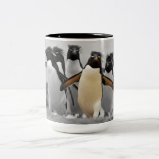 Rockhopper Penguins Two-Tone Coffee Mug