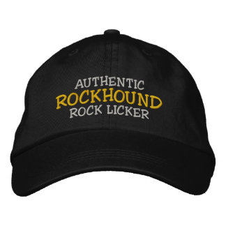 """Rockhound """"Authentic Rock Licker"""" Embroidered Cap Embroidered Hat"""