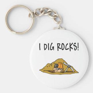 Rockhound Gift Item Basic Round Button Key Ring