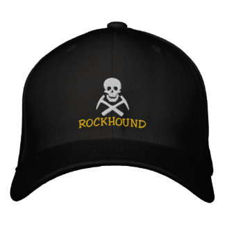 Rockhound Skull And Cross Picks Embroidered Cap