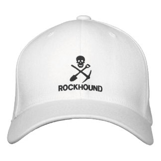 Rockhound Skull Cross Shovel Pickax Embroidered Embroidered Hat