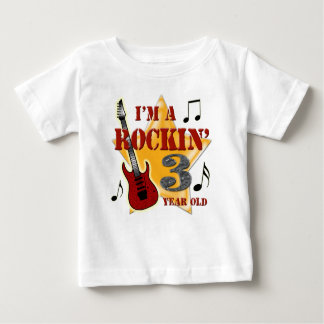 Rockin' Age 3 Baby T-Shirt
