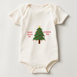 Rockin' Around The Christmas Tree Baby Bodysuit
