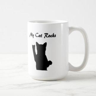 Rockin' Cat Classic White Mug