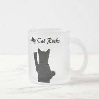 Rockin Cat Frosted Mug