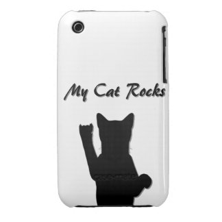 Rockin' Cat I Phone 3G/3GS Case Mate Barely There iPhone 3 Covers