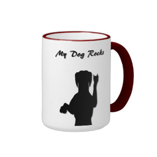 Rockin Dog Ringer Mug