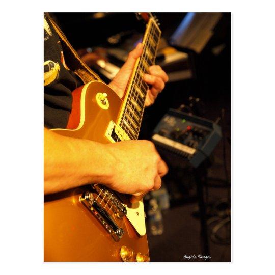 Rockin' guitar postcard