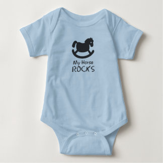 rockin horse baby bodysuit