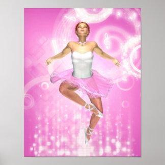 Rockin' It Ballet Style Canvas/Poster Print