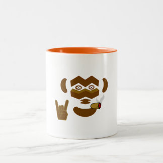 Rockin' Monkey Two-Tone Coffee Mug