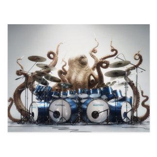 Rockin' Octopus Drummer Postcard