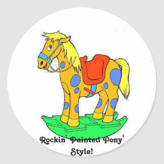 Rockin' Painted Pony Style! Collector Sticker Round Sticker