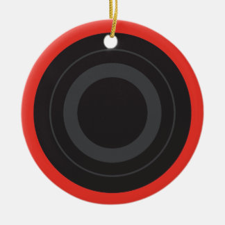 Rockin' Red Pop Art Roller Derby Wheel Christmas Ornament