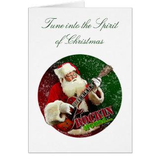 Rockin Santa Greeting Card